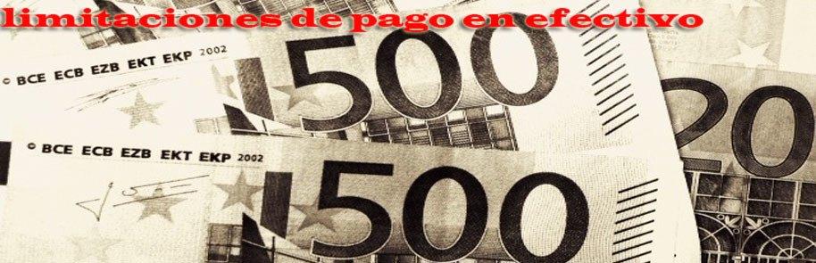 Limitación de pagos en efectivo a 2.500 euros
