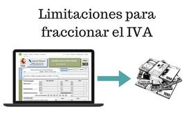 Límites al fraccionamiento del IVA